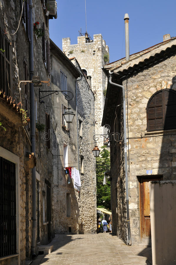село Vence улицы Франции узкое Стоковое Изображение ...