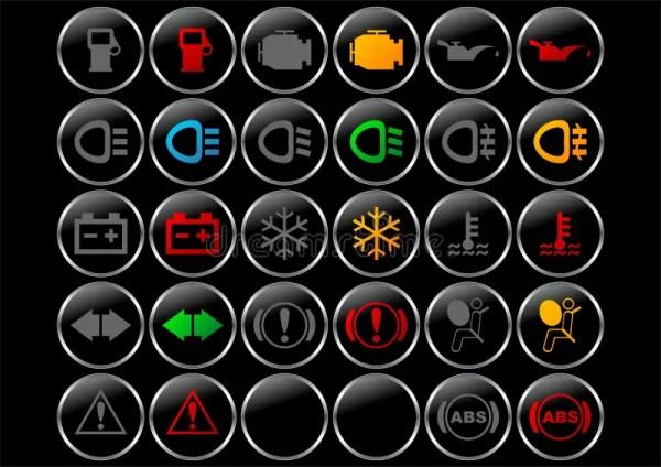 символы приборной панели иллюстрация вектора. иллюстрации ...
