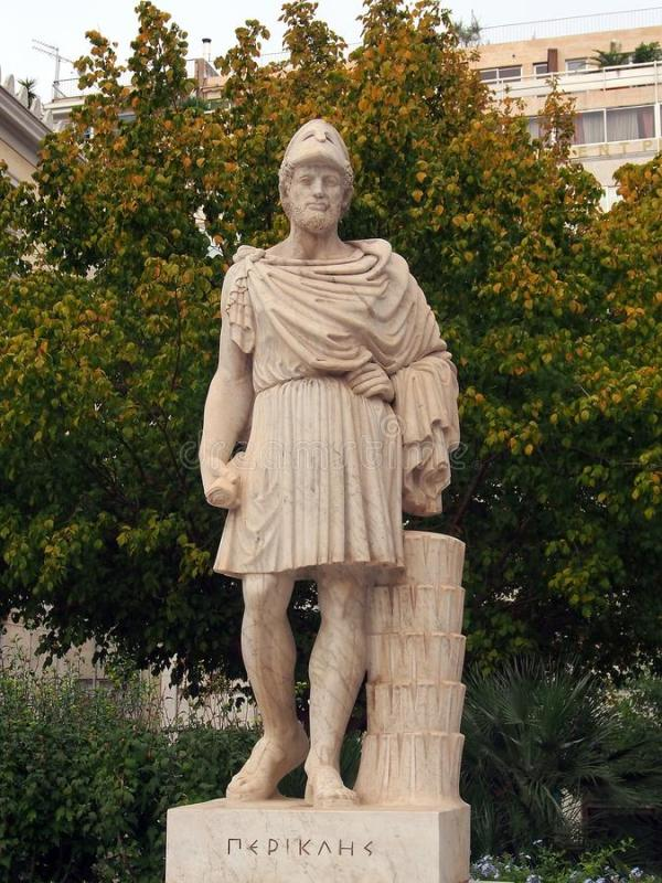 Статуя Pericles, Афин стоковое фото. изображение ...
