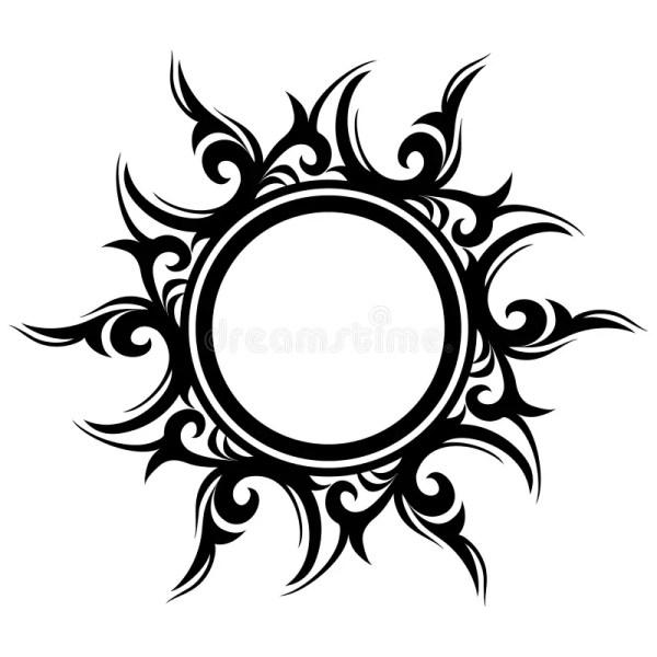 Татуировка, абстрактное солнце, цветок Иллюстрация вектора ...