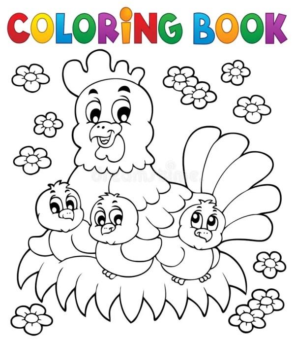 Кролик книжка-раскраски, пасхи и яичко Иллюстрация вектора ...