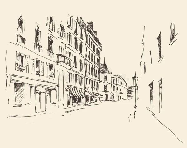 Улицы в Париже, Франции, годе сбора винограда ...