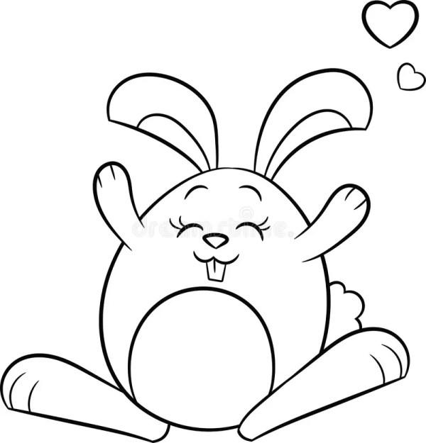 Черно-белый зайчик пасхи иллюстрация вектора. иллюстрации ...
