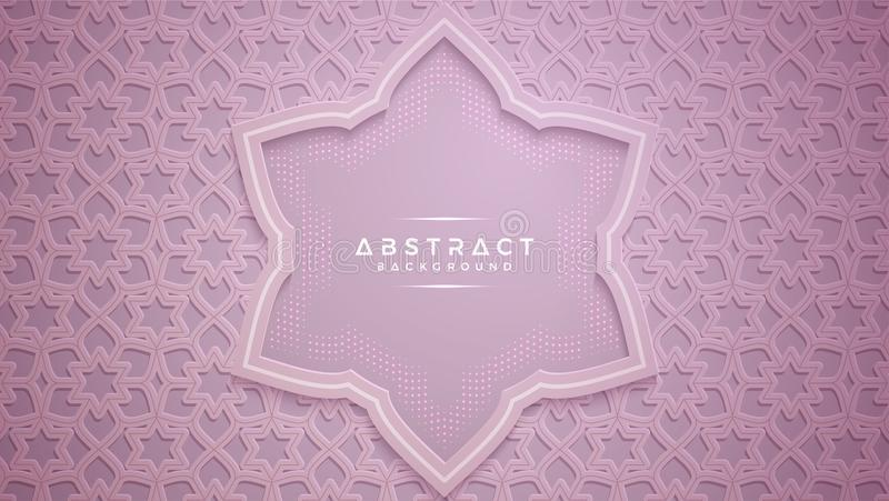 Pink Abstract Glowing Background Stock Illustration