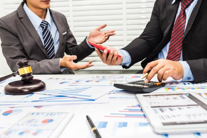 The Advice Of Lawyers And Bankers Stock Image Image Of