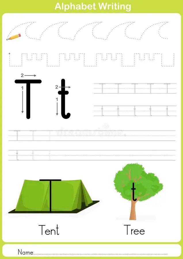 Alphabet A Z Tracing Worksheet Exercises For Kids