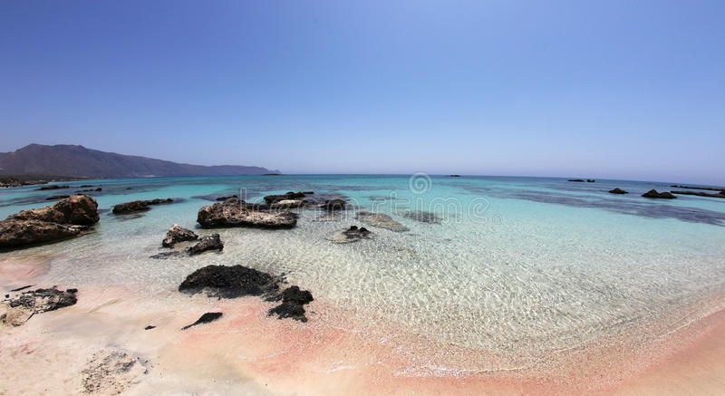 Amazing Tropical Beach With Pink White Sand And