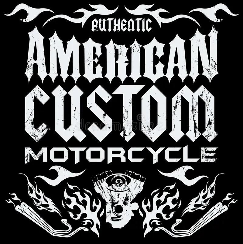 american custom chopper motorcycle