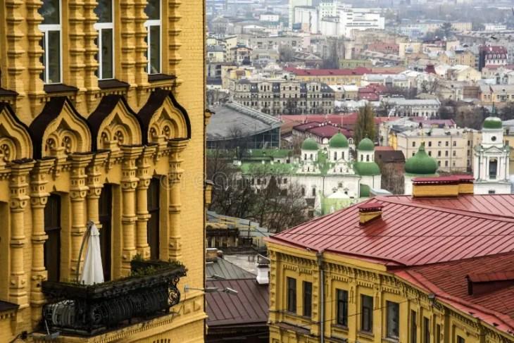 Andreevsky Spusk, Kiev, Ucrania Imagen de archivo - Imagen de ...