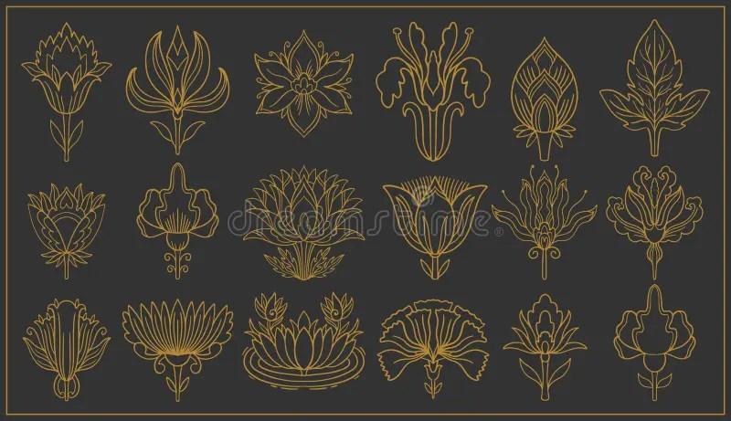 art nouveau and art deco floral