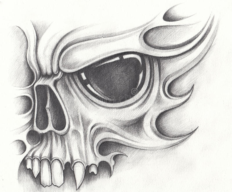 evil skull demon tattoo designs. Black Bedroom Furniture Sets. Home Design Ideas