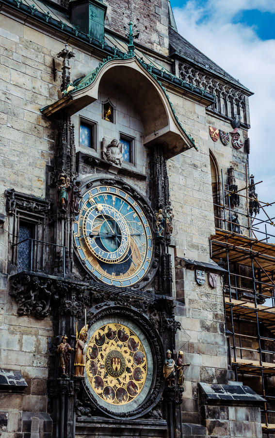 Astrology And Esotericism. Ancient Astronomical Clock In ...