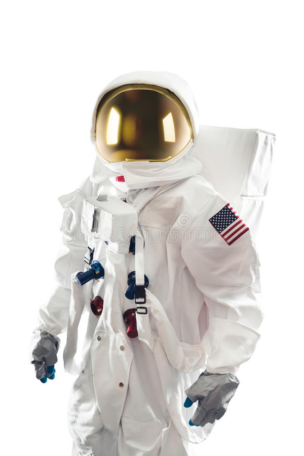 Astronaut Standing On A White Background Stock Photo ...