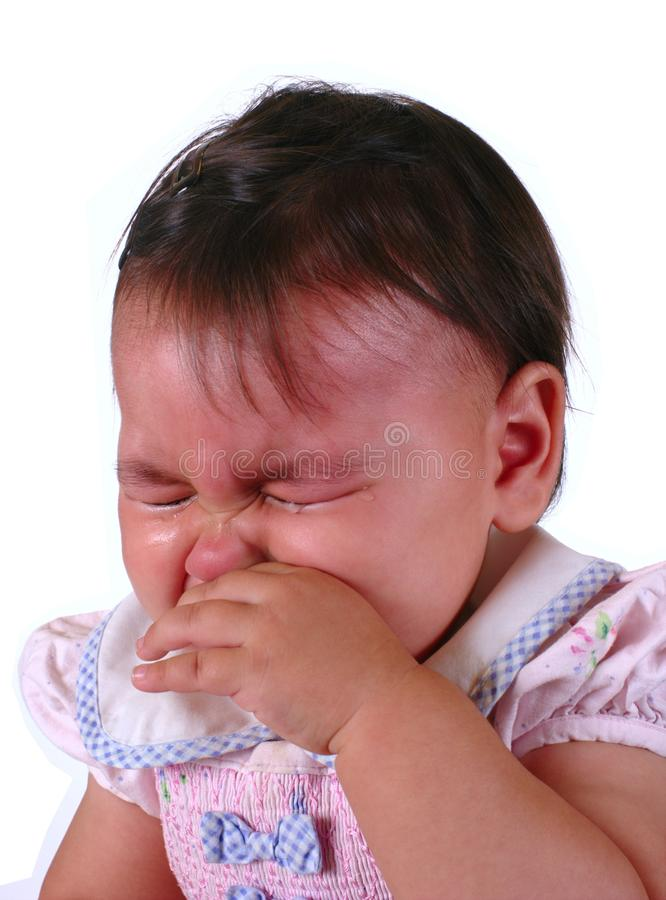 Crying Hispanic Baby Girl