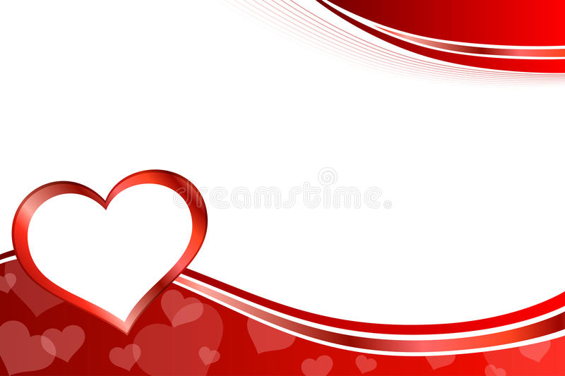Background Abstract Red Heart Frame Illustration Stock