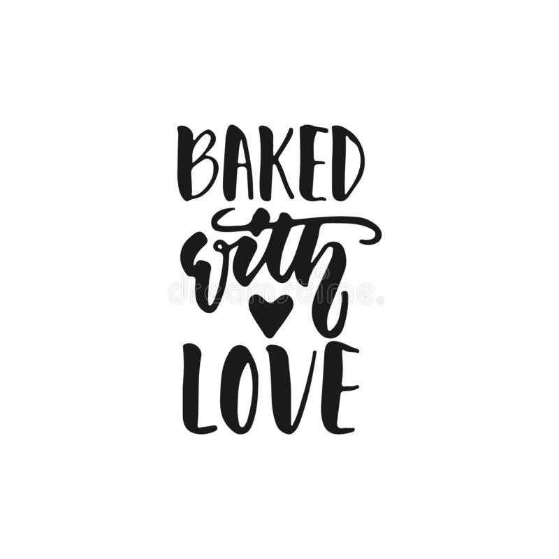 Download Baked with love stock vector. Illustration of heart ...