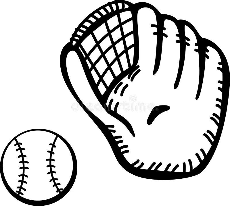 Download Baseball Glove And Ball Vector Illustration Stock Vector ...
