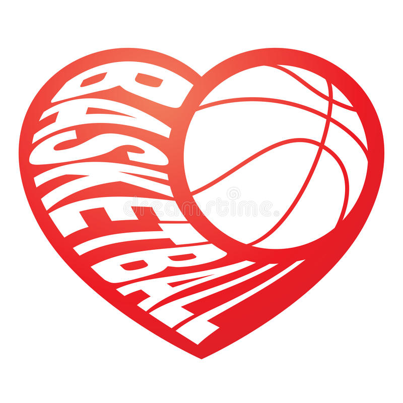 Download Basketball in heart 3 stock vector. Illustration of love ...