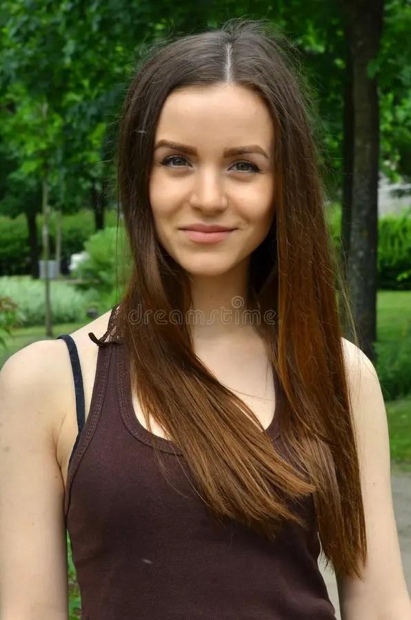 Beautiful Russian girl stock image. Image of happiness ...