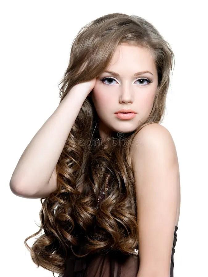 Beautiful Teen Girl With Long Curly Hairs, Hand In Her ... on Beautiful Teen Girl  id=55738