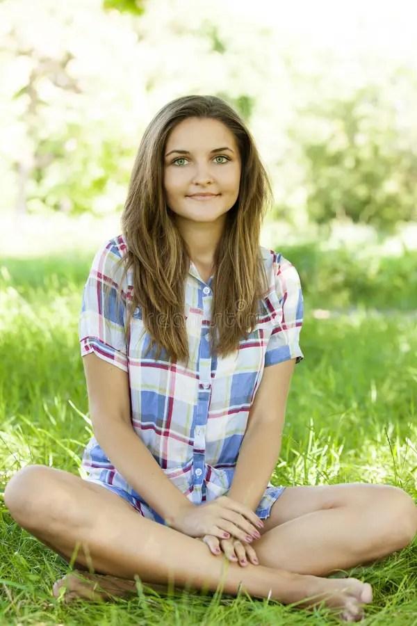 Beautiful Teen Girl In The Park At Green Grass. Stock ... on Beautiful Teen Girl  id=57130