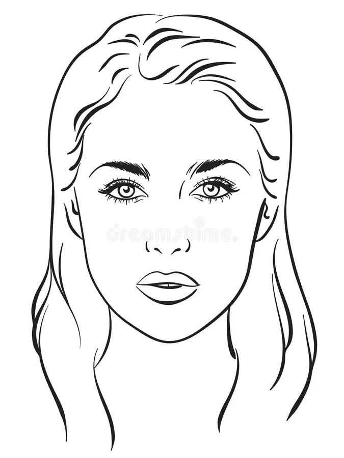 Contour Makeup Template