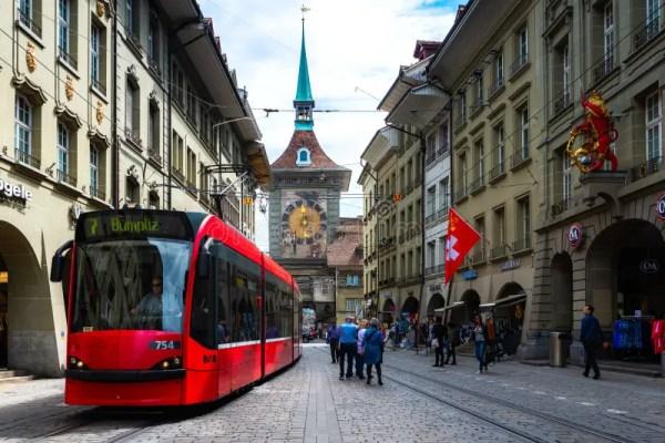 старый городок Швейцарии улицы Стоковое Фото изображение