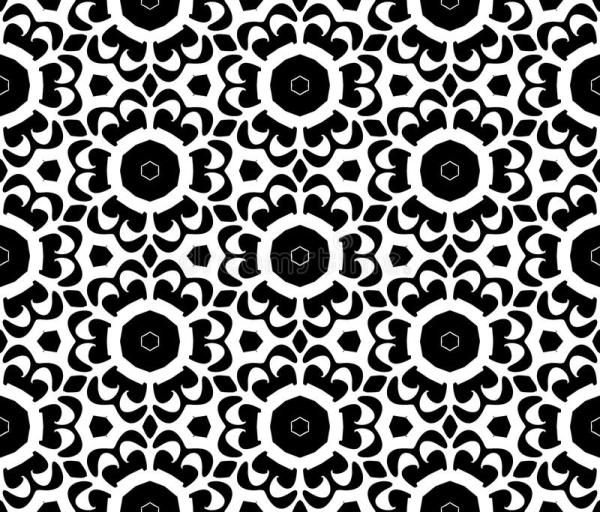 Black And White Repeat Pattern Vector And Seamless ...