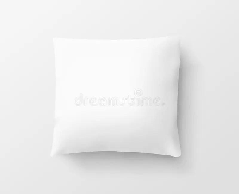 blank white pillow case design mockup
