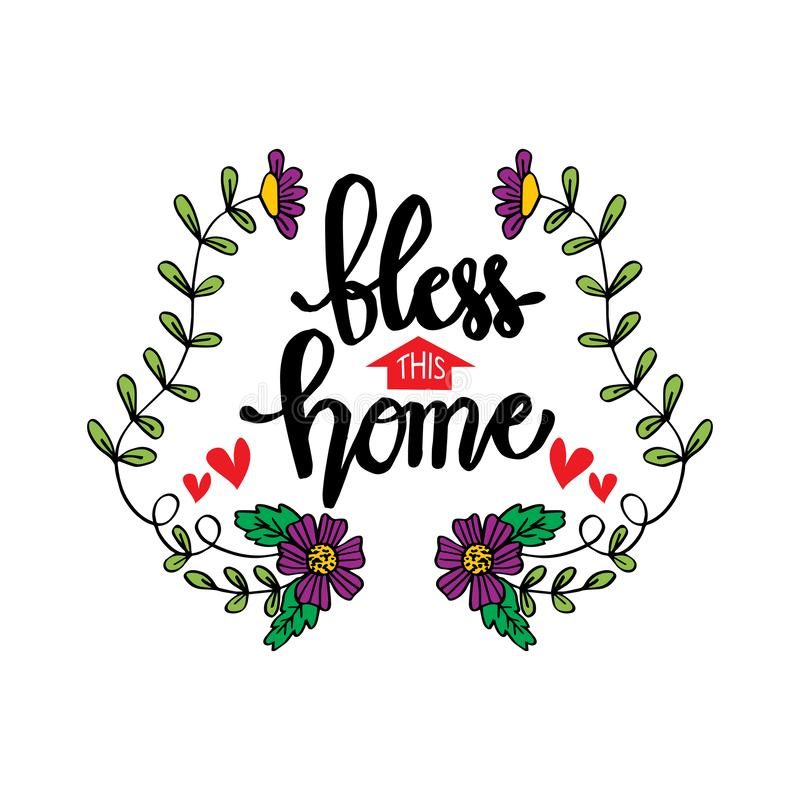 Download Bless This Home With Love And Laughter Stock Vector ...