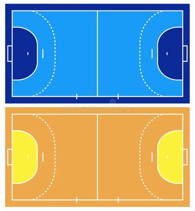handball court stock illustrations