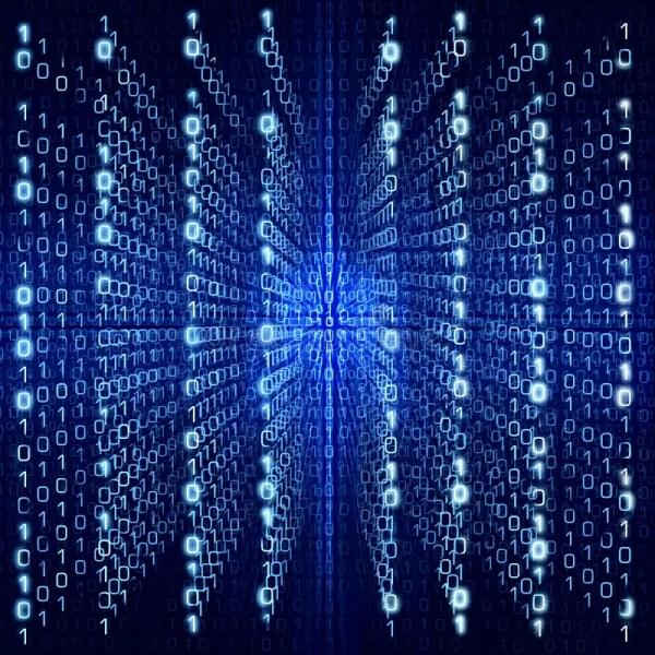 Blue Matrix Abstract Digital Background Big Size Stock