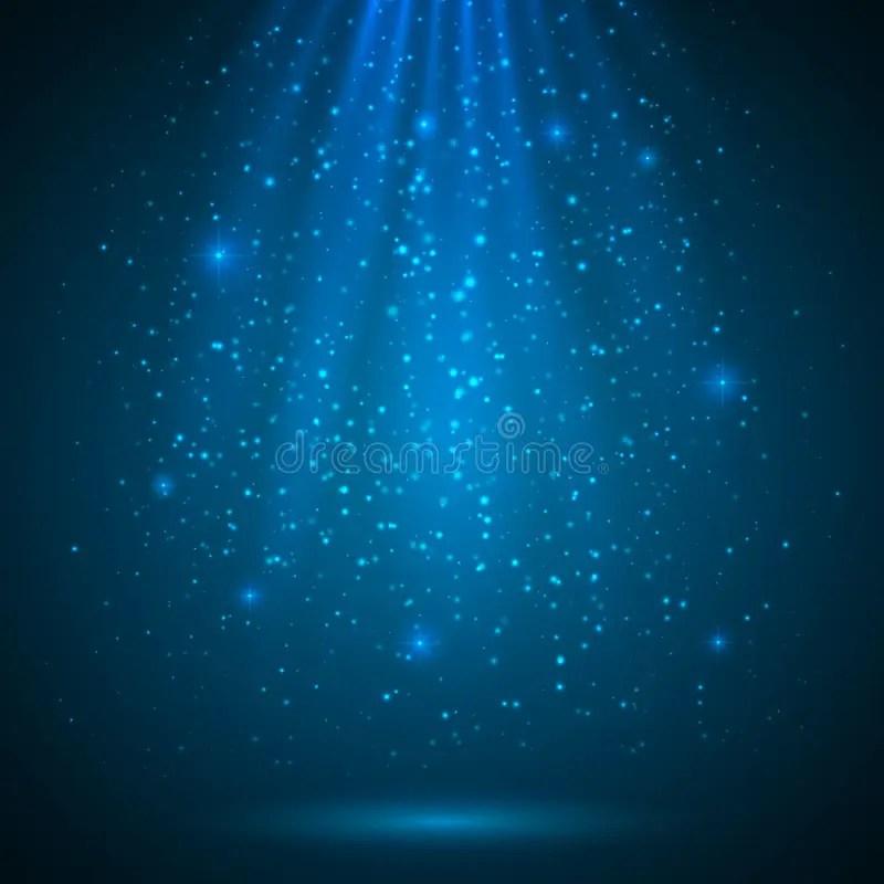 Blue Shining Magic Light Vector Background Stock Vector