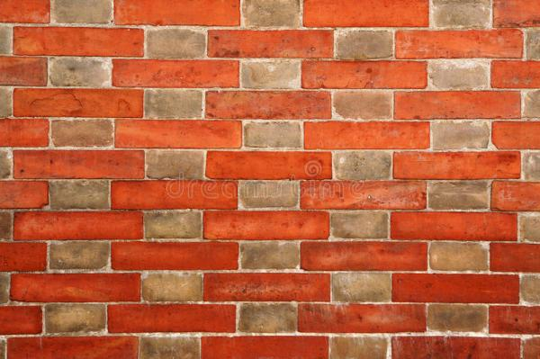 Brick Wall With Alternating Pattern Stock Photo - Image of ...