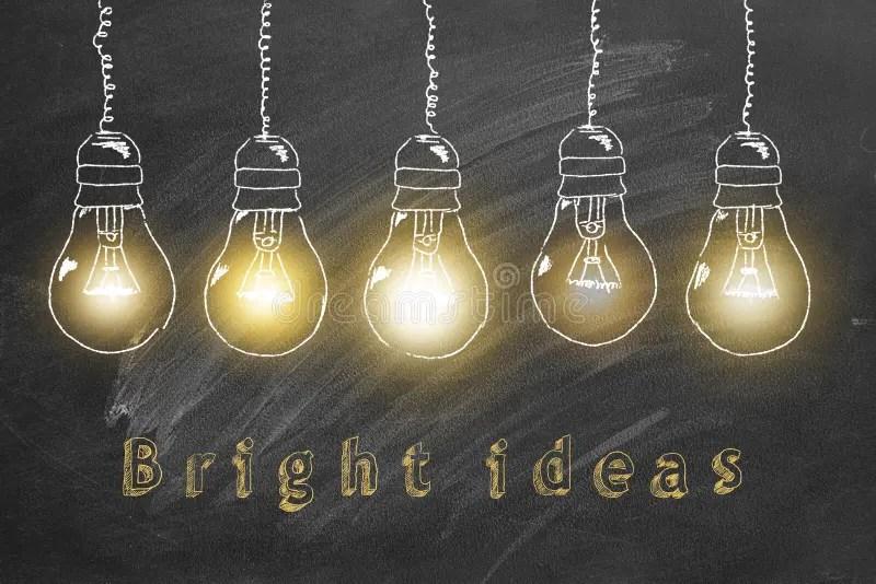 bright ideas concept stock illustration