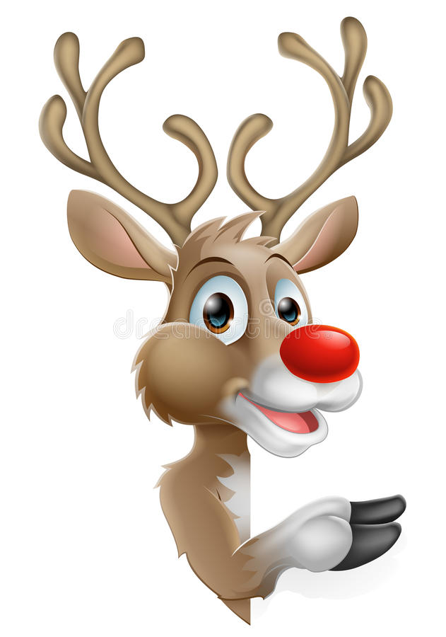 Cartoon Christmas Reindeer Stock Vector Image Of Rain