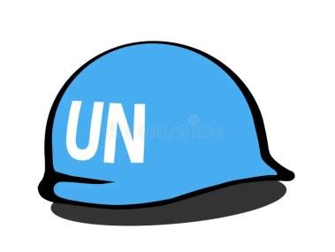 Casco Delle Forze Di Pace Delle Nazioni Unite Illustrazione Vettoriale - Illustrazione di segno, pacifico: 126954751