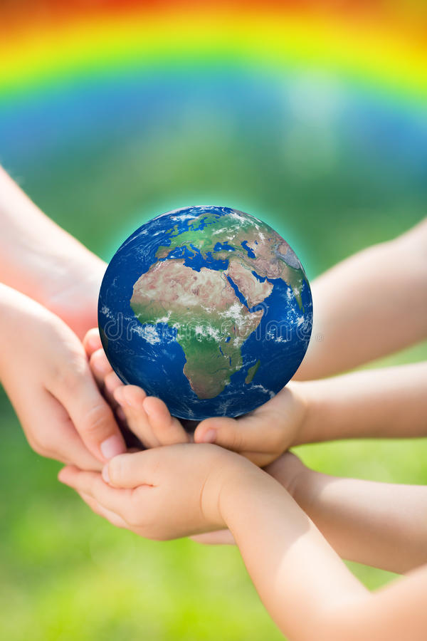 Children Holding Earth In Hands Stock Photo Image Of