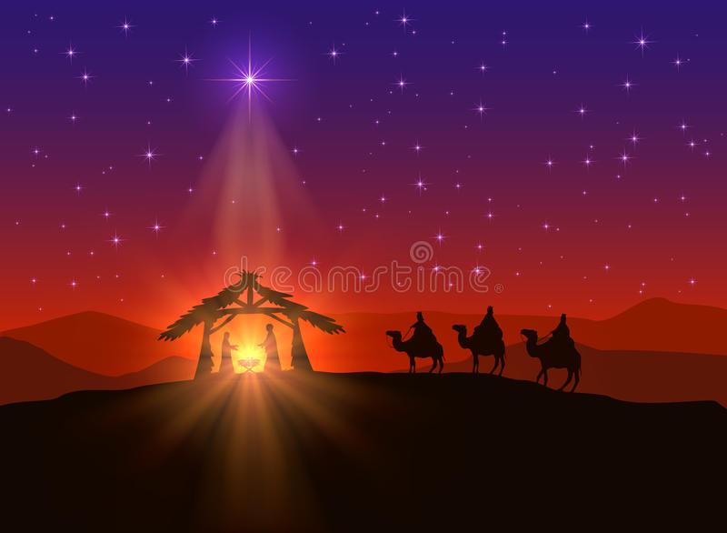 Christian Background With Christmas Star Stock Vector