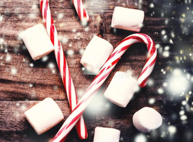Image result for candy canes and marshmallows