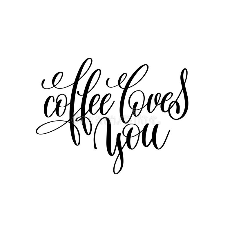 Download I Love Latte And You Black And White Handwritten Lettering ...