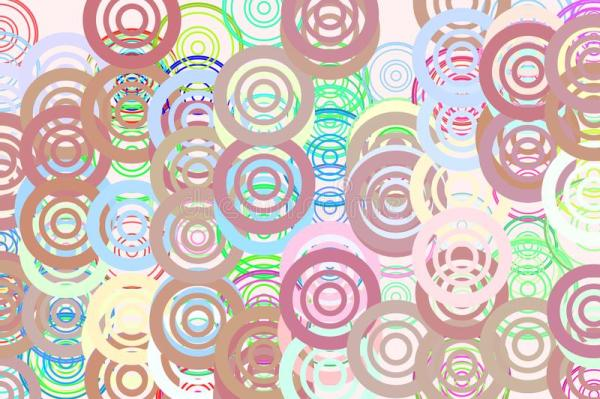 Color Abstract Circles, Bubbles, Sphere Or Ellipses ...