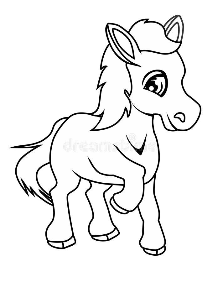 Coloring Page Of Horse Stock Vector Illustration Of Coloration 171882016