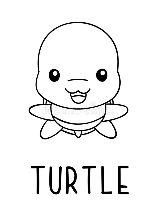 Kawaii Cute Turtle Coloring Pages Novocom Top