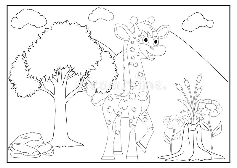 Coloring Pages For Kids With Cute Animal Stock Vector Illustration Of Album Farm 189665100