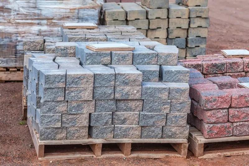 concrete pavers stock image image of