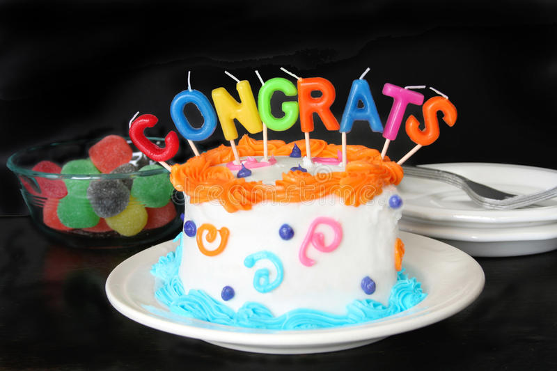 Congratulation Cake Stock Photo Image Of Candles Cake 10037080