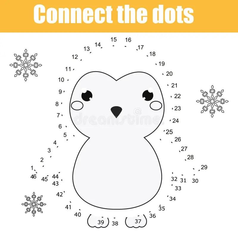 Penguin Dot To Dot Kindergarten