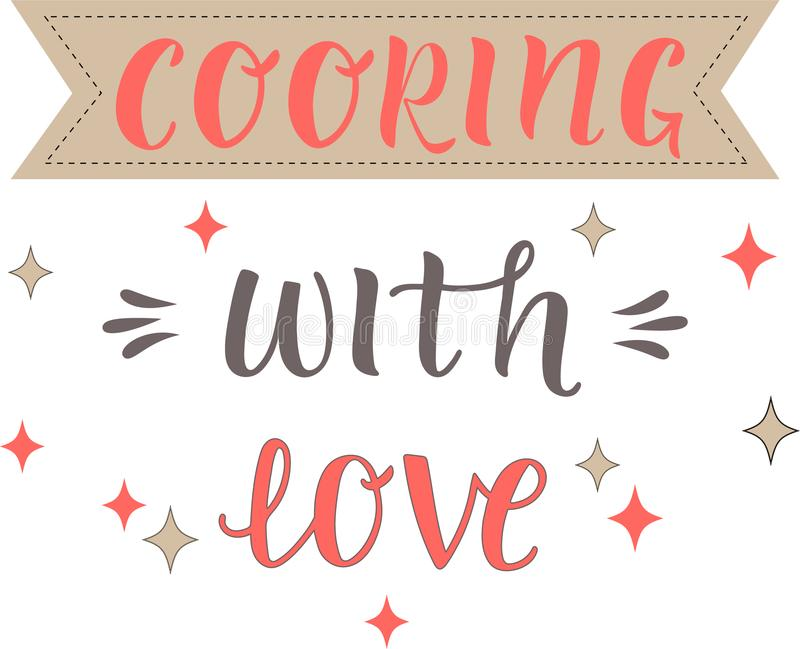 Download Quote Cooking with love stock vector. Illustration of loop ...
