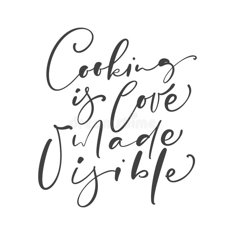 Download Cooking Is Love Made Edible Kitchen Vector Text With Hand ...